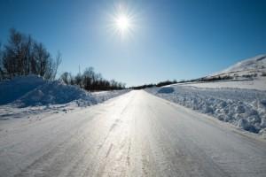Very slippery road